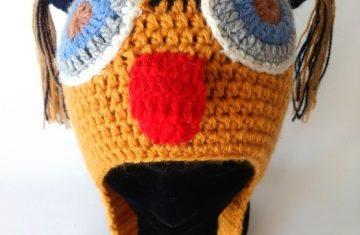 Gorro lana alpaca buho