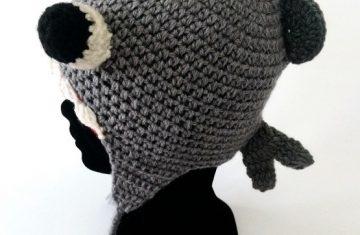 Gorro lana alpaca pez