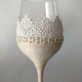 detalle copa decorada vintage hecha a mano