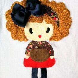 detalle muñeca camiseta niña new sofia