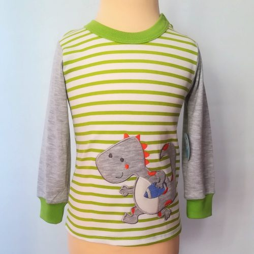 Camiseta manga larga bebé con dinosaurio y púas