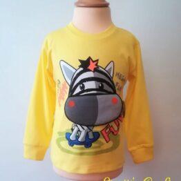 Camiseta manga larga cebra amarilla