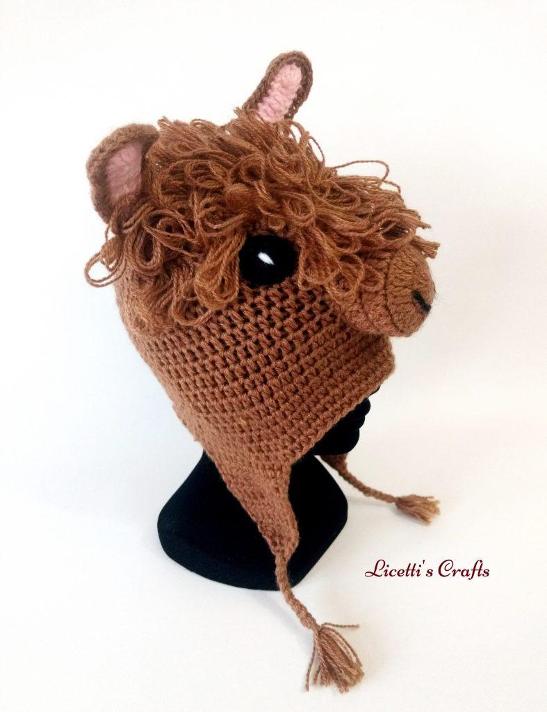 Gorro lana alpaca llama