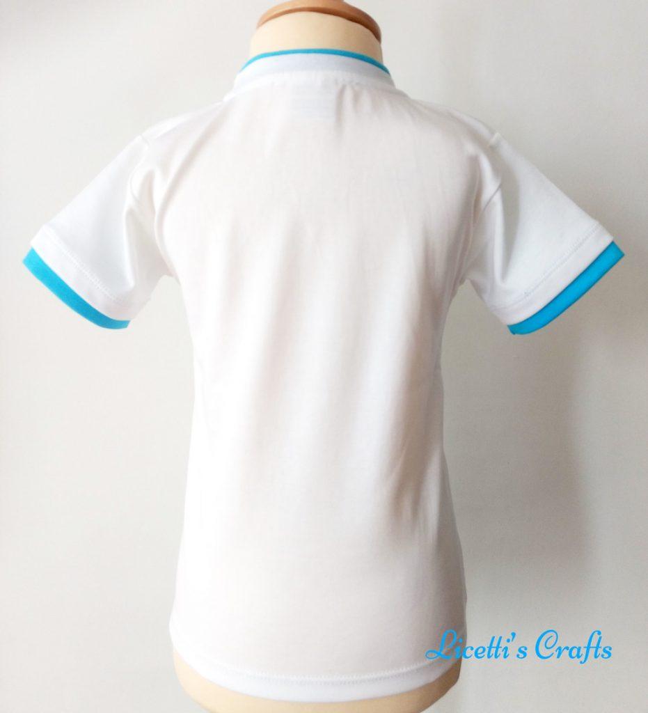 Espalda camiseta infantil en algodón pima peruano