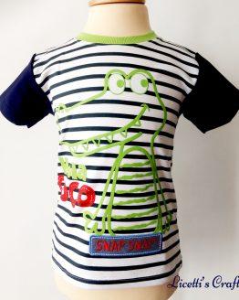 Camiseta cocodrilo en relieve con púas en la espalda en algodón pima
