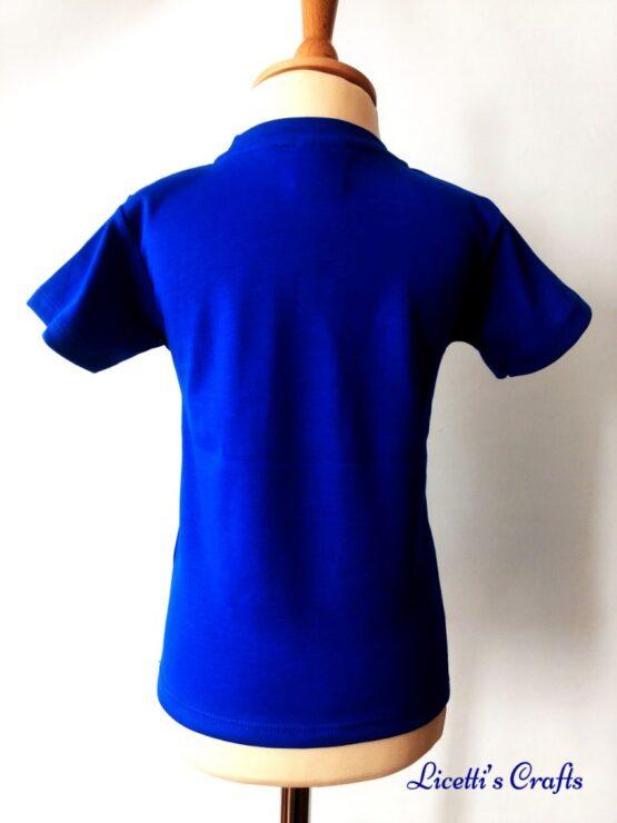 Espalda camiseta algodón pima azulona para niño y niña
