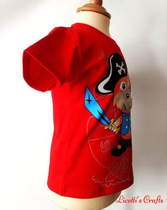 Detalle costado derecho camiseta algodón pima zorro pirata