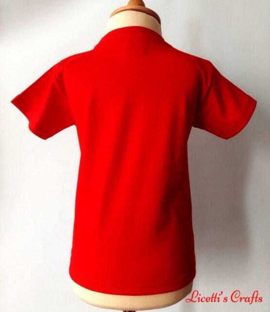 Espalda camiseta en algodon pirma roja