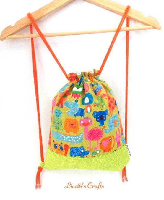 mochila cuerdas hecha a mano animales japón