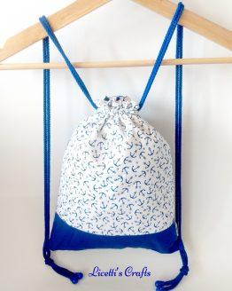 mochila cuerdas hecha a mano diseño anclas