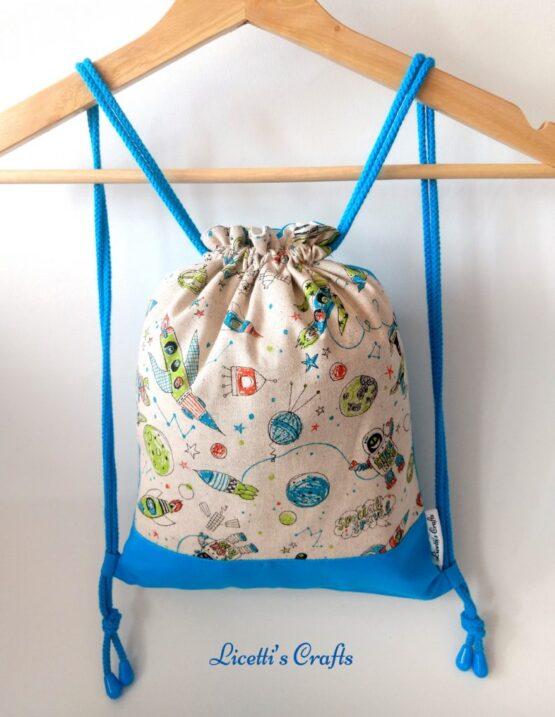 mochila cuerdas hecha a mano espacio exterior