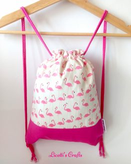 mochila cuerdas hecha a mano flamencos