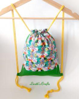 mochila cuerdas hecha a mano loros