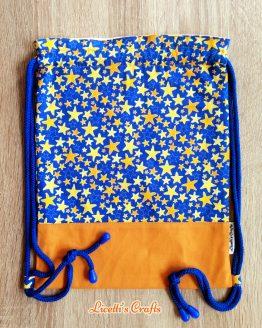 Mochila cuerdas hecha a mano cielo estrellas