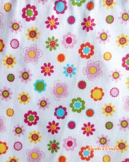 Tejido algodón flores multicolor