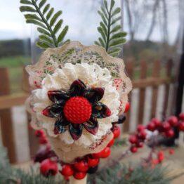 Detalle copa decorada navidad