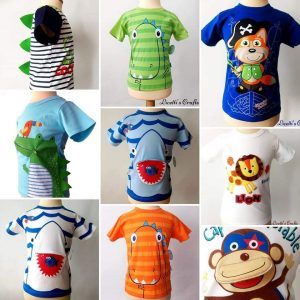 Collage camisetas relieve algodón Pima