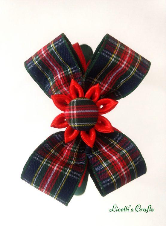 Diadema hecha a mano lazo escoces