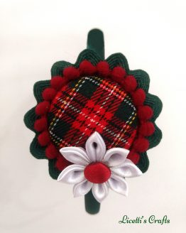 detalle flor diadema navidad redonda