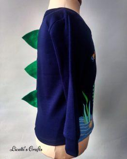 costado camiseta manga larga bebé púas espalda