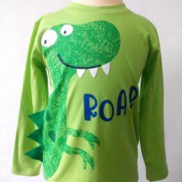 camiseta algodón pima dinosaurio púas lateral
