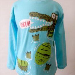 camiseta algodón pima manga larga cocodrilo nadando