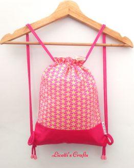 mochila cuerdas infantil hecha a mano estrella de mar