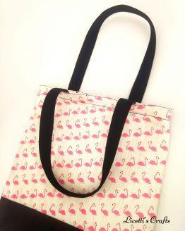 Bolsa Tote bag hecho a mano flamencos
