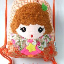 Mochila cuerdas muñeca relieve kawaii