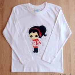 camiseta manga larga hecha a mano muñeca