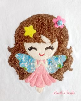 muñeca en relieve de hada hecha a mano para camiseta