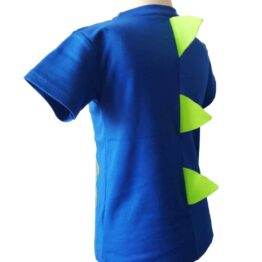 Detalle espalda camiseta cocodrilo púas