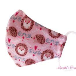 Mascarilla higiénica erizo rosa