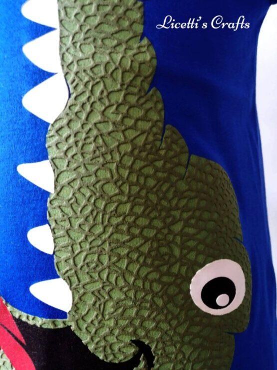 Detalle escama camiseta cocodrilo
