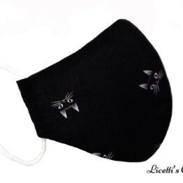 Mascarilla higiénica gato negro