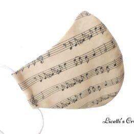 Mascarilla higienica notas musicales