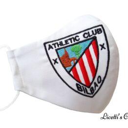 mascarilla higienica reutilizable bordado athletic bilbao