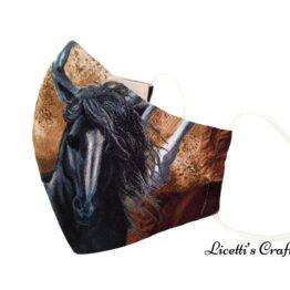 mascarilla higienica reutilizable caballo pintado