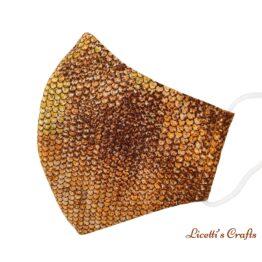 mascarilla higienica reutilizable escamas serpiente dorado