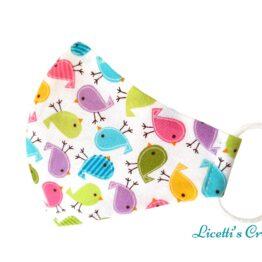 mascarilla higienica reutilizable pajaros multicolor divertidos