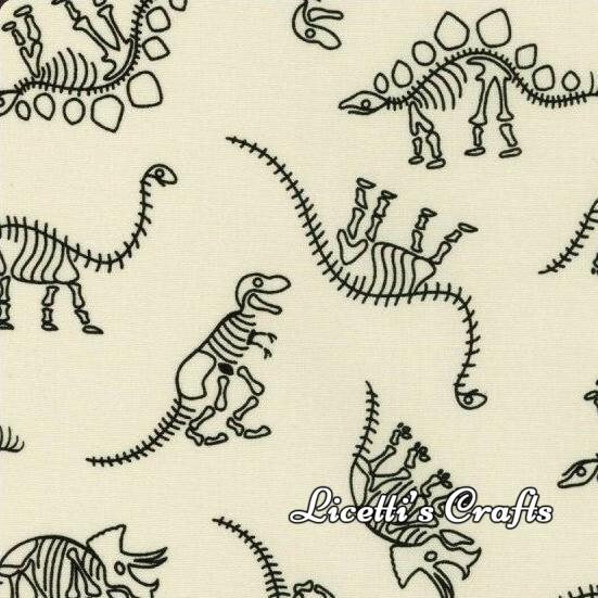 tejido dinosaurio fosil esqueleto infantil