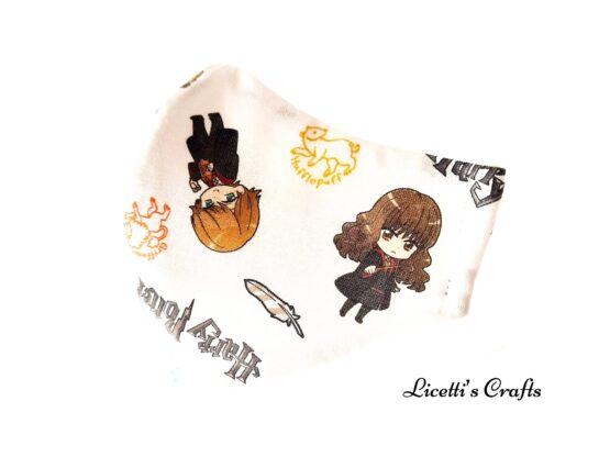 mascarilla reutilizable harry potter hermione ron