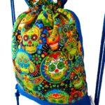 mochila cuerdas infantil calavera multicolor