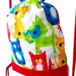 mochila cuerdas infantil gatos pintados