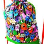 mochila cuerdas infantil monstruos divertidos
