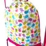 mochila cuerdas infantil pajaritos multicolor