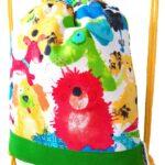 mochila cuerdas infantil perro acuarela
