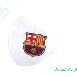 mascarilla FC Barcelona escudo bordado