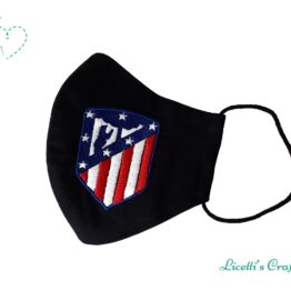 mascarilla atletico de madrid escudo bordado